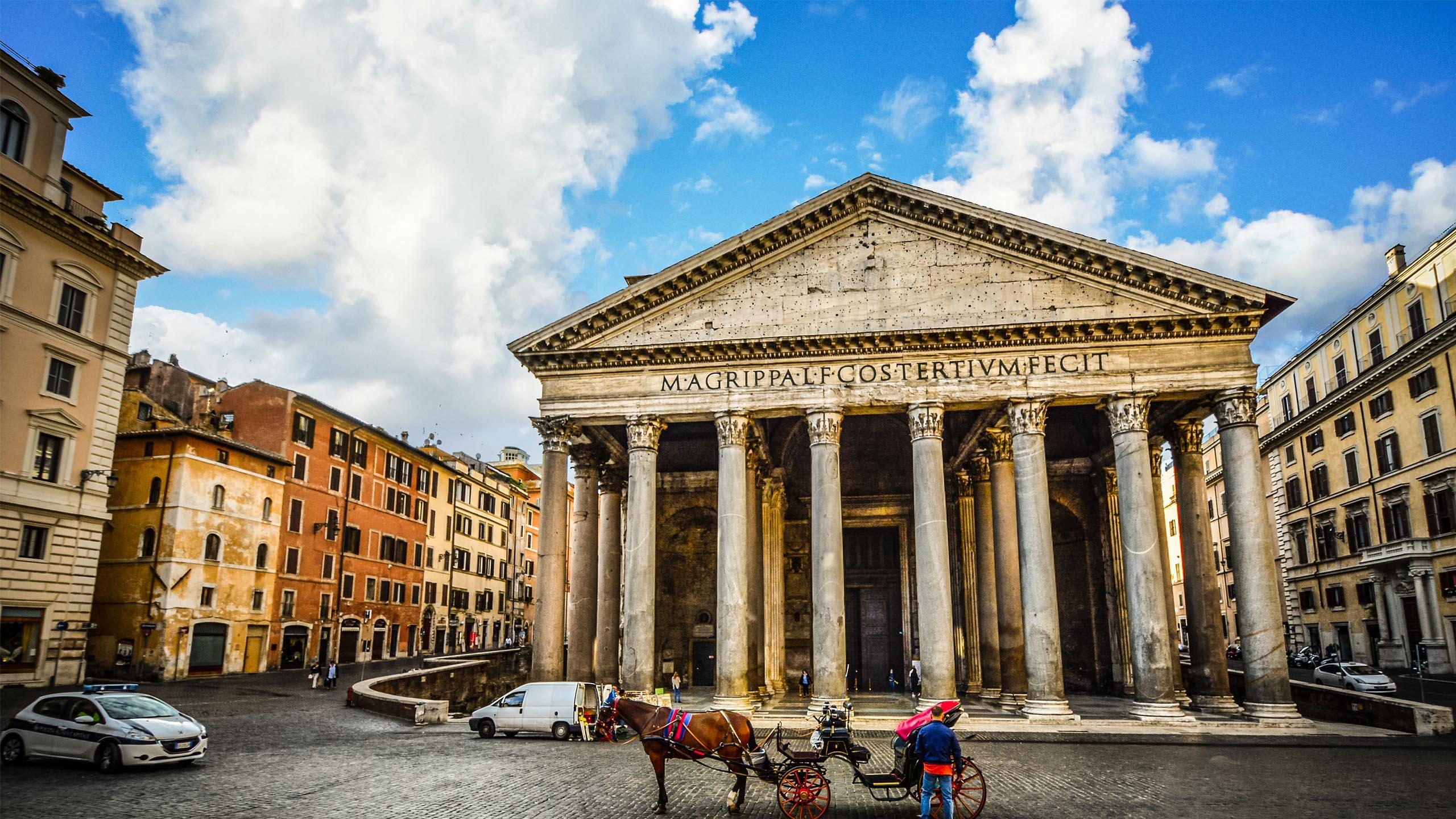 Il pantheon uno dei monumenti pi fotografati di roma la sua for Esterno pantheon